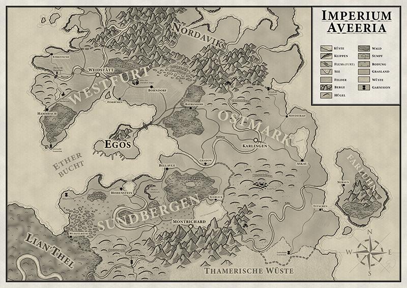 Karte Aveerien